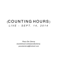 Paco De Clercq - Counting Hours